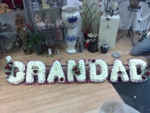 Funeral Tribute Grandad - hydes Florist