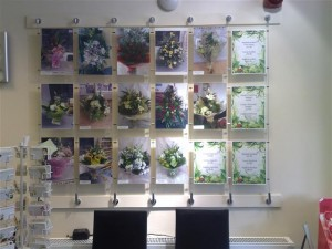 Hydes Florist doncaster wall display of flowers