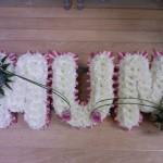Mum funeral tributes hydes florists doncaster