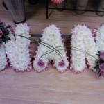 Nan funeral tributes hydes florists doncaster