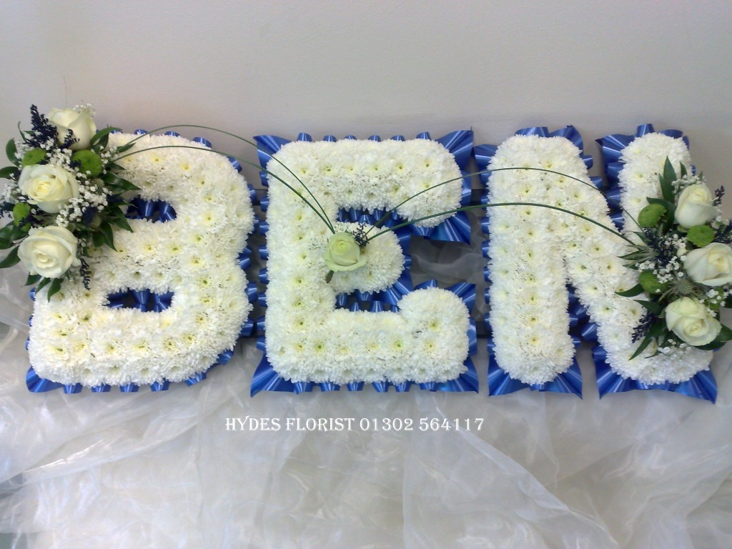 Florist bespoke funeral tributes gallery based funeral letters hydes florist doncaster izmirmasajfo Image collections