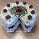 cake funeral tribute hydes florists doncaster