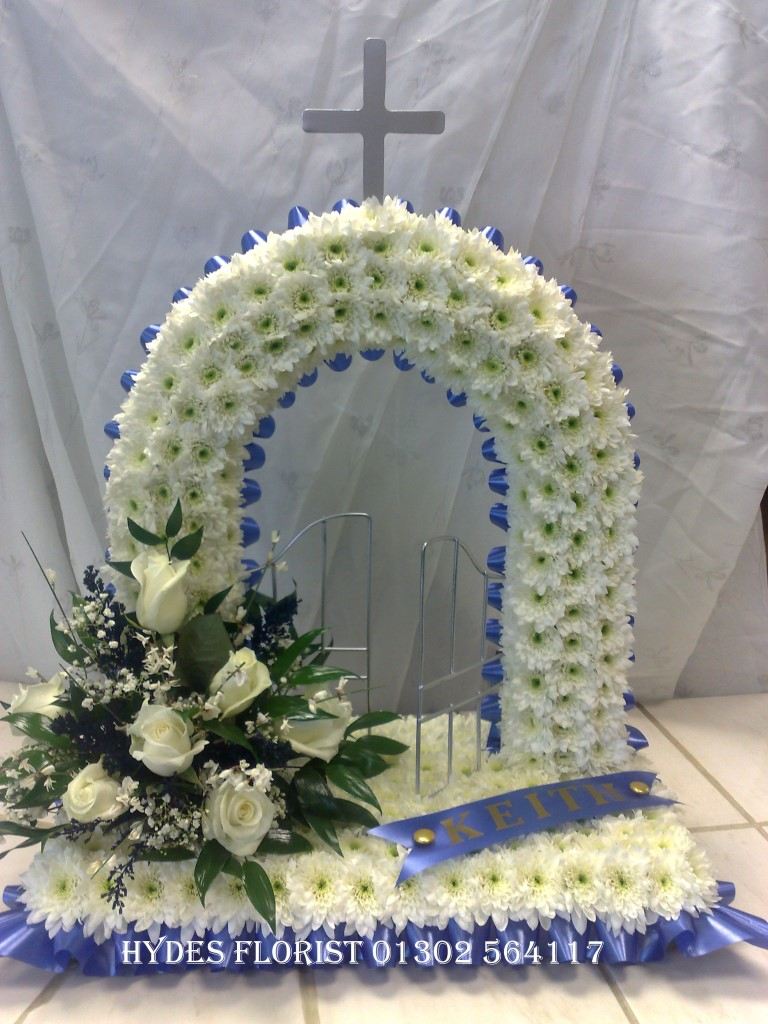 Hydes florist bespoke funeral tributes gallery hydes florist wreath mum funeral tribute hydes florist doncaster gates of heaven funeral tribute hydes florist doncaster izmirmasajfo