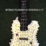 guitar bass player bespoke funeral tributes hydes florists doncaster