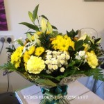 handtied yellow hydes florist doncaster mothersday