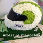 hydes florist doncaster motorcycle helmet avg funeral tribute biker flowers