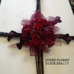 hydes florist wicker cross rose