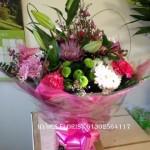 pink aqua boxed bouquet hydes florists doncaster mothersday