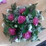 pink rose posy hydes flroist doncaster