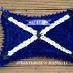 scotish flag bespoke funeral tributes hydes florists doncaster