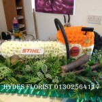 stihl chainsaw bespoke funeral tribute hydes florists doncaster