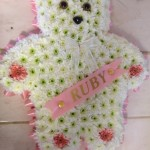 teddy bear funeral flowers tribute hydes florists doncaster