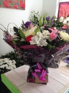 large aqua boxed bouquet   £50