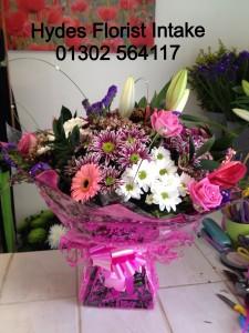 anthurium and rose aqua box  £50