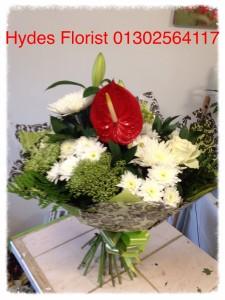 anthurium handtied bouquet   £40