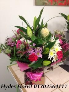 rose aqua boxed bouquet £45