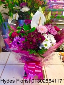 anthurium aqua boxed bouquet    £45